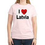 I Love Latvia Women's Pink T-Shirt
