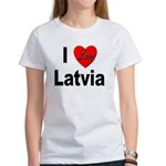I Love Latvia (Front) Women's T-Shirt