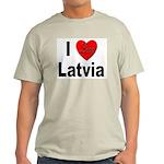 I Love Latvia (Front) Ash Grey T-Shirt