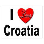 I Love Croatia Small Poster