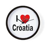 I Love Croatia Wall Clock