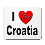 I Love Croatia Mousepad