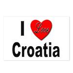 I Love Croatia Postcards (Package of 8)
