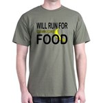 Will Run For Food Dark T-Shirt
