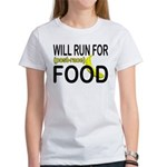 Will Run For Food Women's T-Shirt