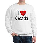 I Love Croatia (Front) Sweatshirt