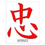Samurai Loyalty Kanji Small Poster
