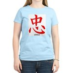 Samurai Loyalty Kanji Women's Pink T-Shirt