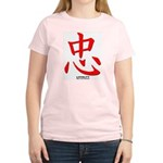 Samurai Loyalty Kanji Women's Pink T-Shirt