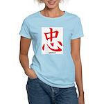 Samurai Loyalty Kanji (Front) Women's Pink T-Shirt