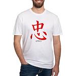 Samurai Loyalty Kanji Fitted T-Shirt