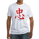 Samurai Loyalty Kanji (Front) Fitted T-Shirt