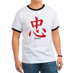 Samurai Loyalty Kanji Ringer T