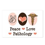 Peace Love Pathology Postcards (Package of 8)