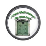 The Green Door Wall Clock