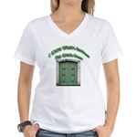 The Green Door Women's V-Neck T-Shirt