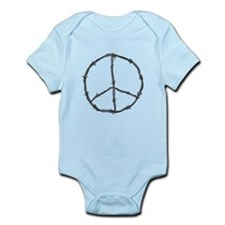 Barbed Wire Peace Sign Infant Bodysuit