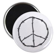 Barbed Wire Peace Sign Magnet