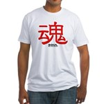 Samurai Soul Kanji Fitted T-Shirt