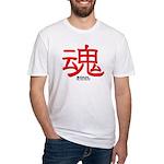 Samurai Soul Kanji (Front) Fitted T-Shirt