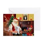 Santa's Maltese (#11) Greeting Card