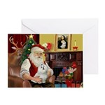 Santa's Maltese Greeting Card
