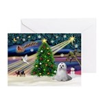 XmasMagic/Maltese (#9) Greeting Cards (Pk of 10)