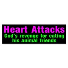 HEART ATTACKS Bumper Bumper Sticker
