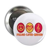 "PEACE - LOVE - MUSIC 2.25"" Button (100 pack)"