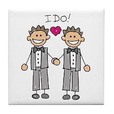 Gay Marriage - I Do Tile Coaster