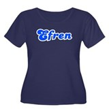 Retro Efren (Blue) Women's Plus Size Scoop Neck Da