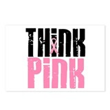 Think Pink 5 Postcards (Package of 8)
