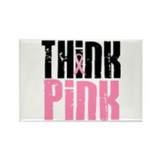 Think Pink 5 Rectangle Magnet (10 pack)