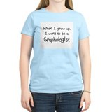 When I grow up I want to be a Graphologist T-Shirt