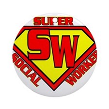 Super Social Worker Ornament (Round)