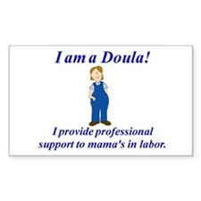 I am a Doula Rectangle Decal