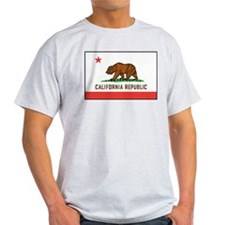 California Flag Ash Grey T-Shirt
