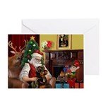 Santa's Rottweiler Greeting Card