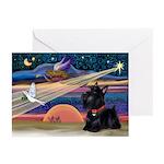 XmasStar/Scottie (#6) Greeting Cards (Pk of 20)