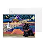 XmasStar/Scottie (#6) Greeting Cards (Pk of 10)