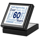 Over 60 years, 60th Birthday Keepsake Box