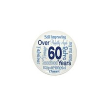Over 60 years, 60th Birthday Mini Button (100 pack