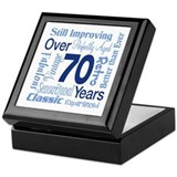 Over 70 years, 70th Birthday Keepsake Box