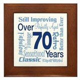 Over 70 years, 70th Birthday Framed Tile