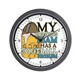 Football Drinking Team Wall Clock