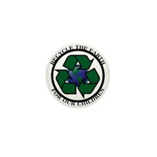 Recycle the Earth Mini Button (100 pack)