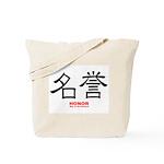 Samurai Honor Kanji Tote Bag