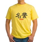 Samurai Honor Kanji Yellow T-Shirt