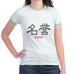 Samurai Honor Kanji (Front) Jr. Ringer T-Shirt