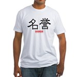 Samurai Honor Kanji (Front) Fitted T-Shirt
